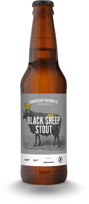 Black Sheep Stout by Baronscourt Brewery